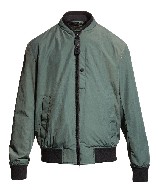 Men's Nylon-Cotton Bomber Jacket