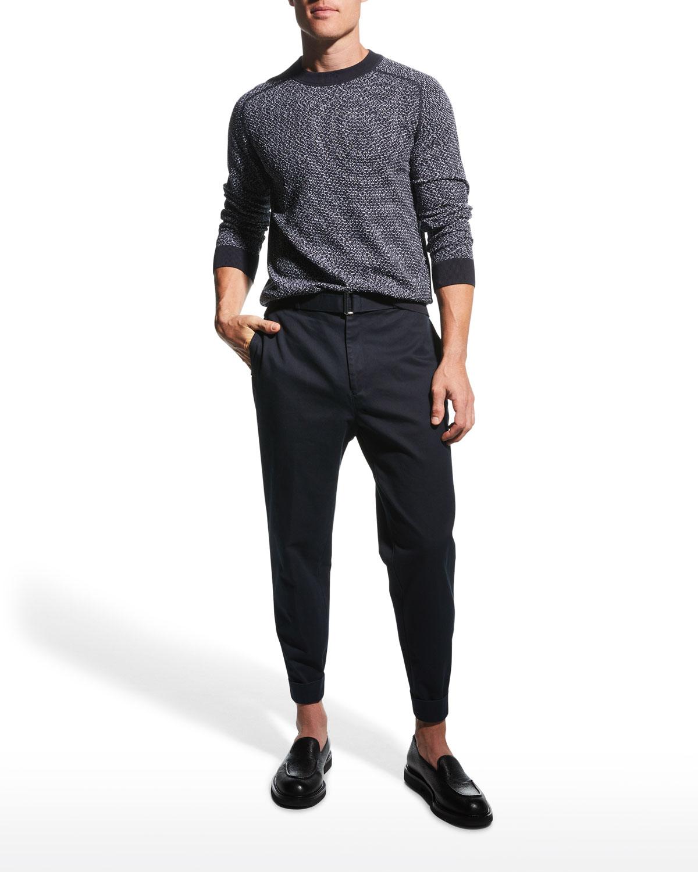 Men's Melange Knit Crew Sweater