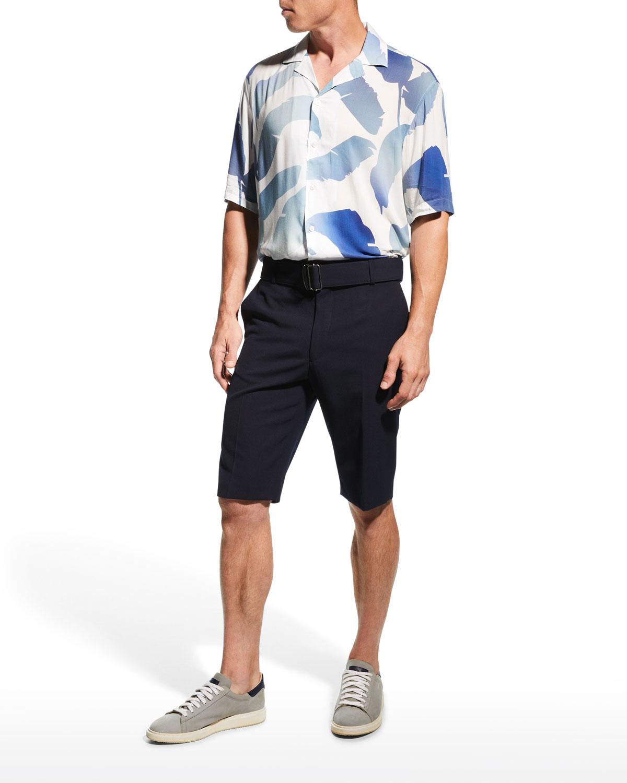 Men's Gradient Pattern Modal Camp Shirt