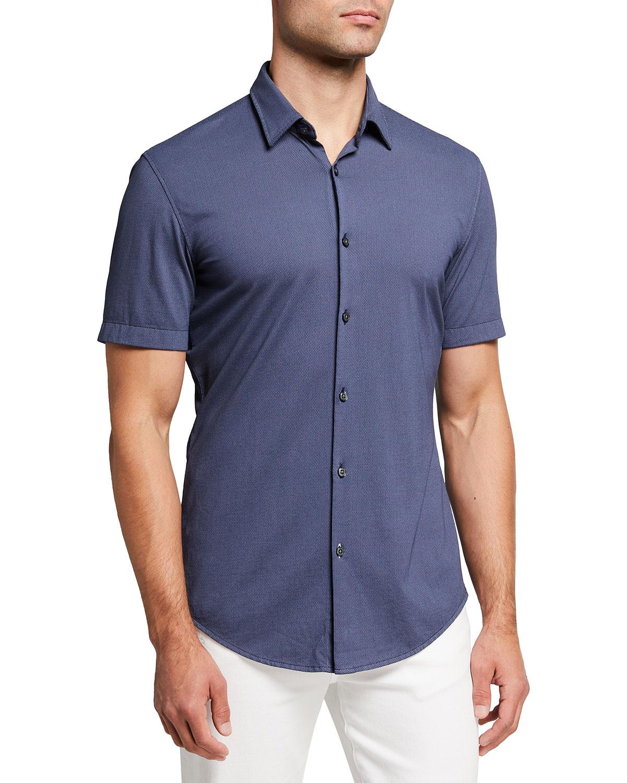 Men's Micro-Pattern Sport Shirt