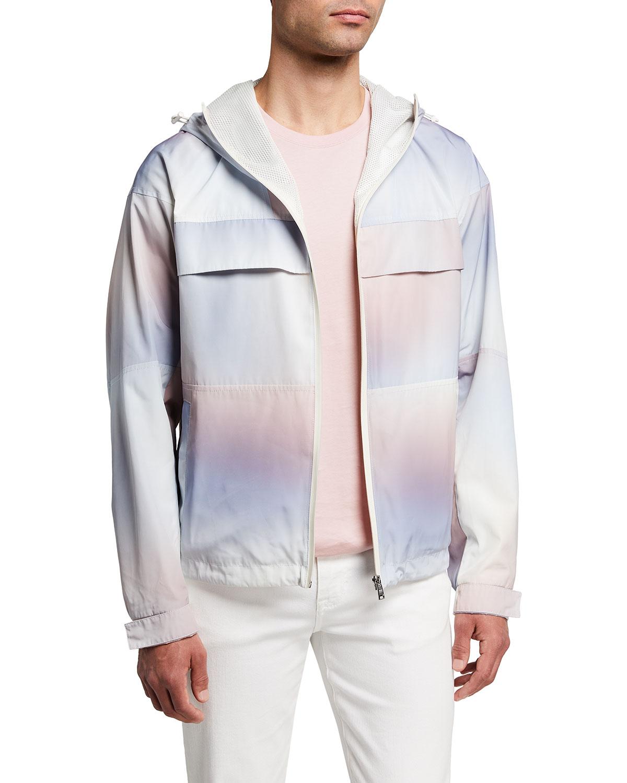 Men's Pastel Full-Zip Hooded Jacket