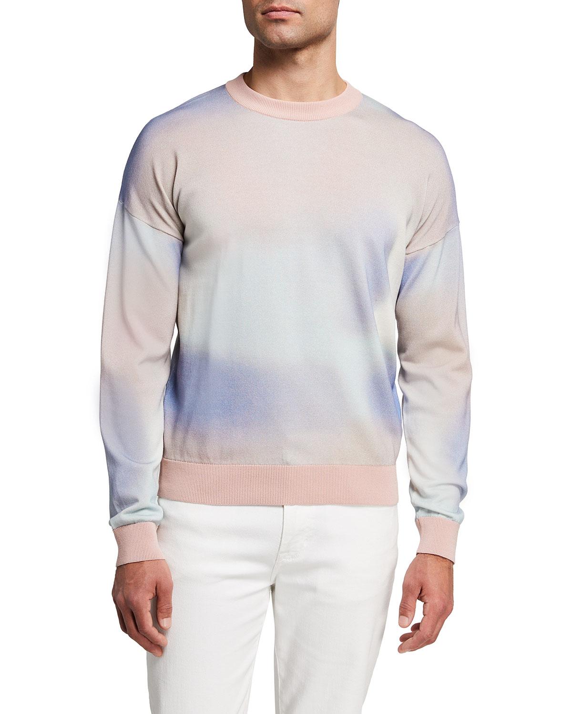 Men's Pastel Cotton Crew Sweater