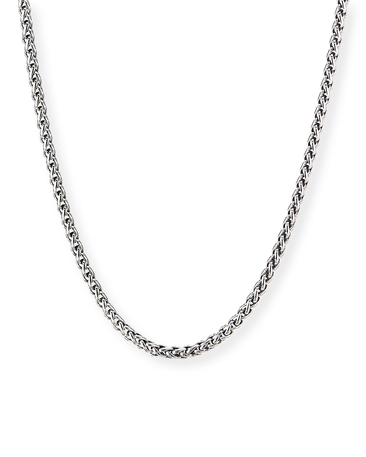 Men's 4mm Sterling Silver Wheat Chain Necklace