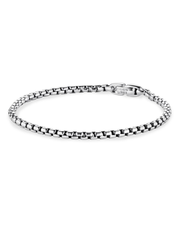 Men's Sterling Silver Box Chain Bracelet
