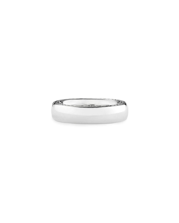 Men's Streamline 6mm Sterling Silver Band Ring