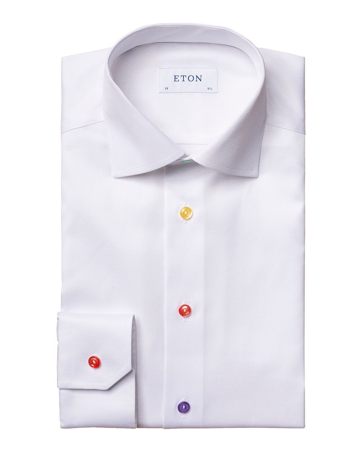 Men's Solid Contemporary-Fit Dress Shirt