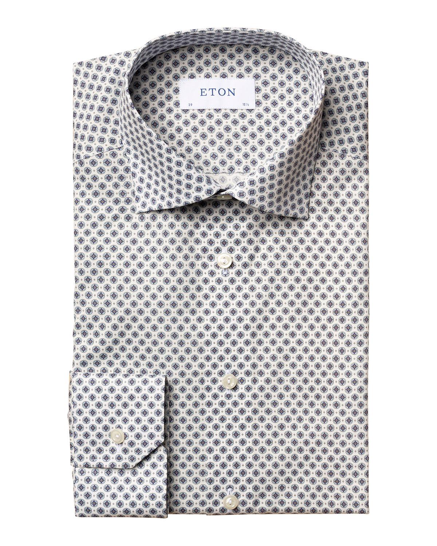 Men's Geometric-Print Slim-Fit Sport Shirt