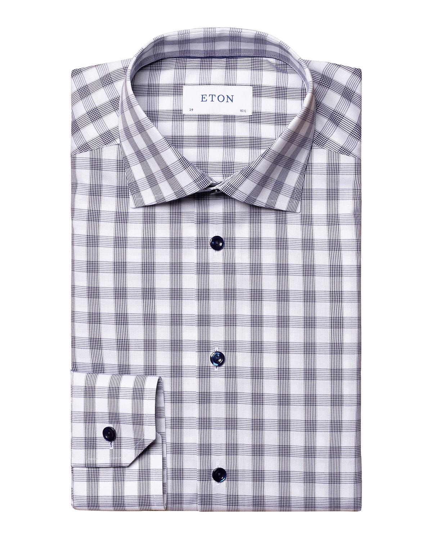 Men's Gingham-Print Slim-Fit Sport Shirt