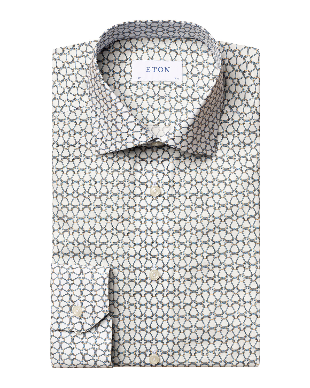 Men's Rope-Print Contemporary-Fit Sport Shirt
