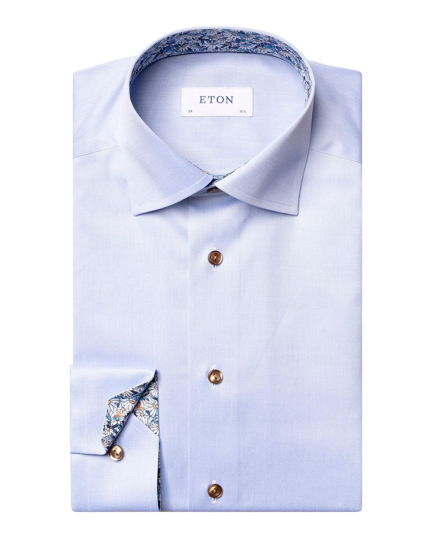 Men's Daisy-Print Contemporary-Fit Dress Shirt