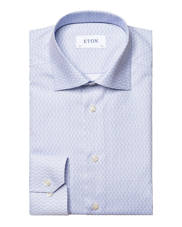 Men's Micro-Print Slim-Fit Sport Shirt