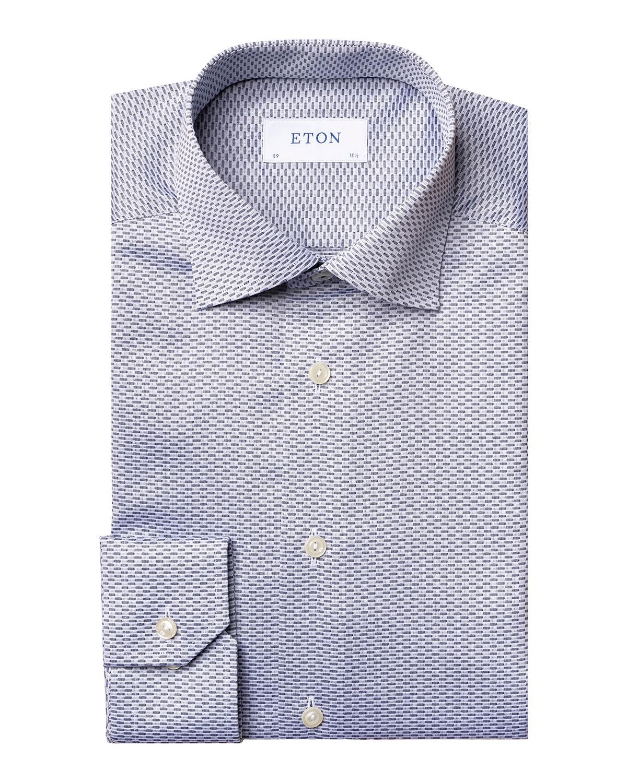 Men's Textured Contemporary-Fit Dress Shirt
