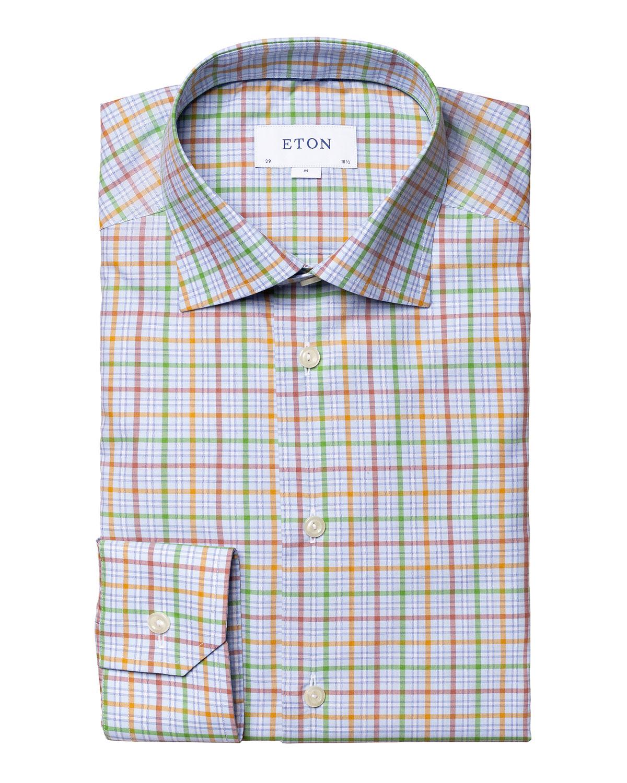 Men's Check-Print Contemporary-Fit Sport Shirt