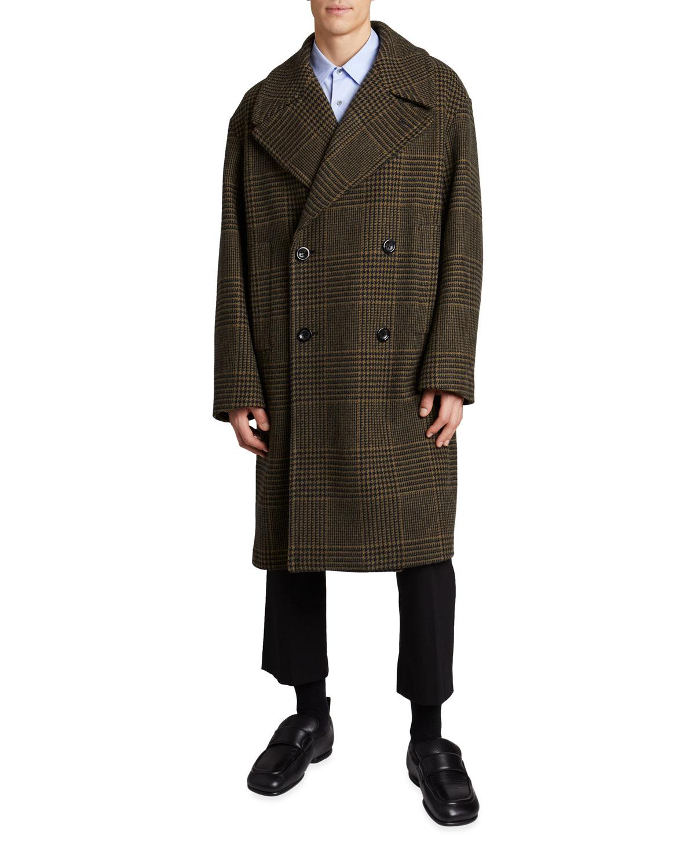 Men's Rarson Double-Breasted Plaid Coat