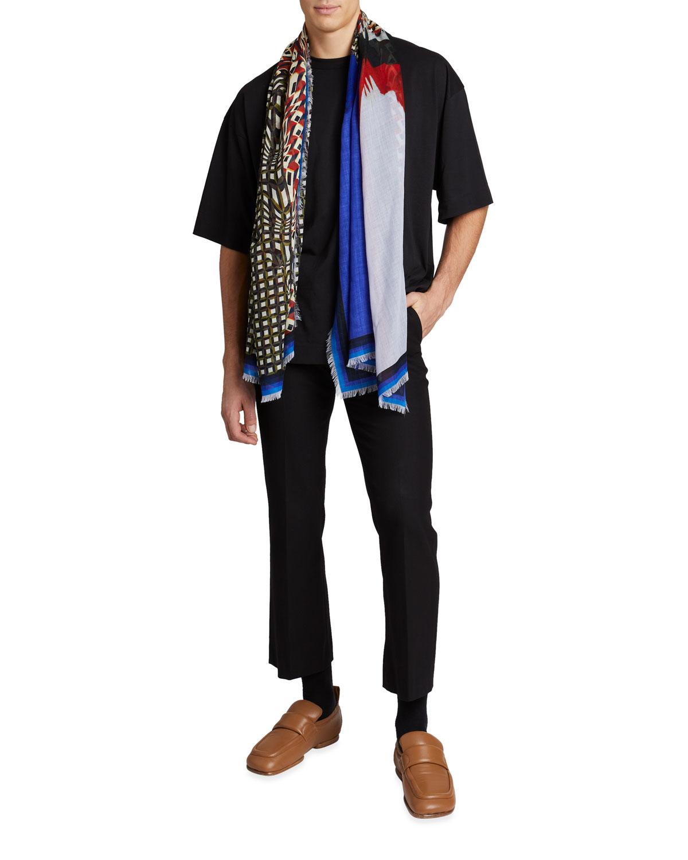 Men's Fly Multi-Pattern Wool Scarf