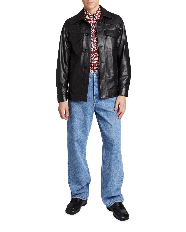 Men's Lash Leather Shirt Jacket