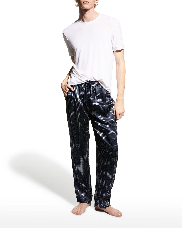 Men's Dotted Silk Lounge Pants