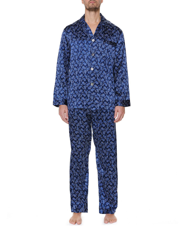 Men's Silk Paisley Pajama Set