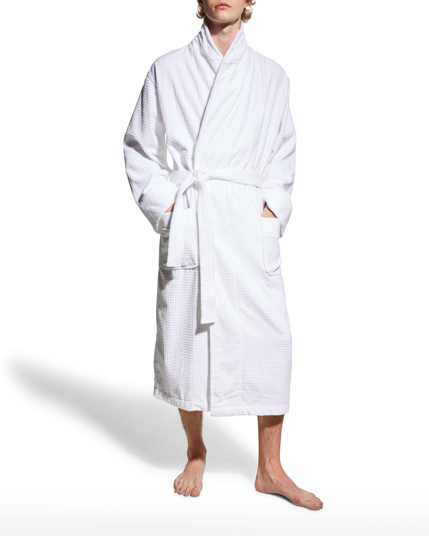 Men's Ashton Square Textured Terry Velour Robe