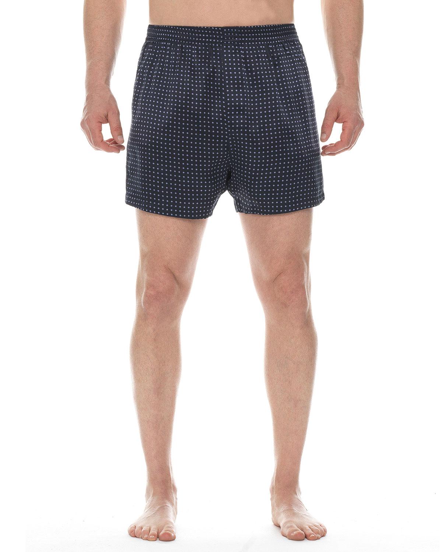 Men's Dot-Print Silk Boxers