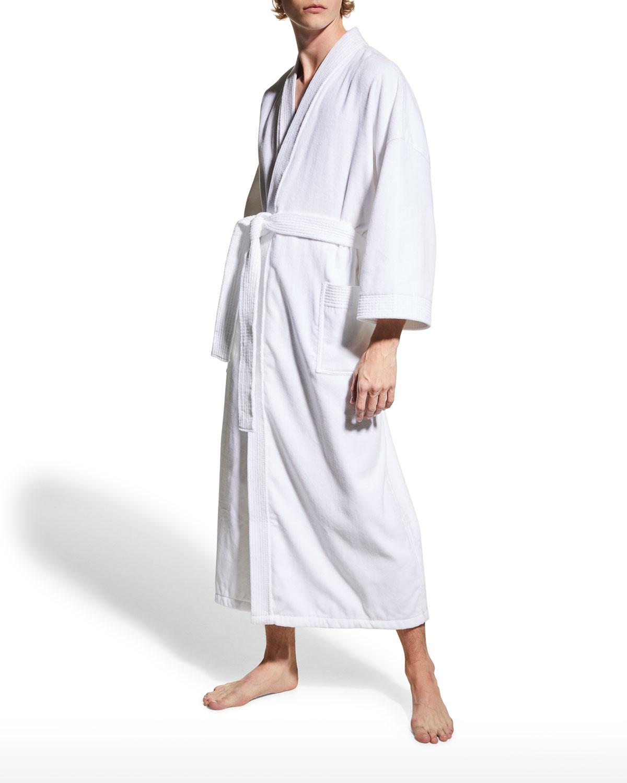 Men's Dorchester Terry Velour Kimono Robe
