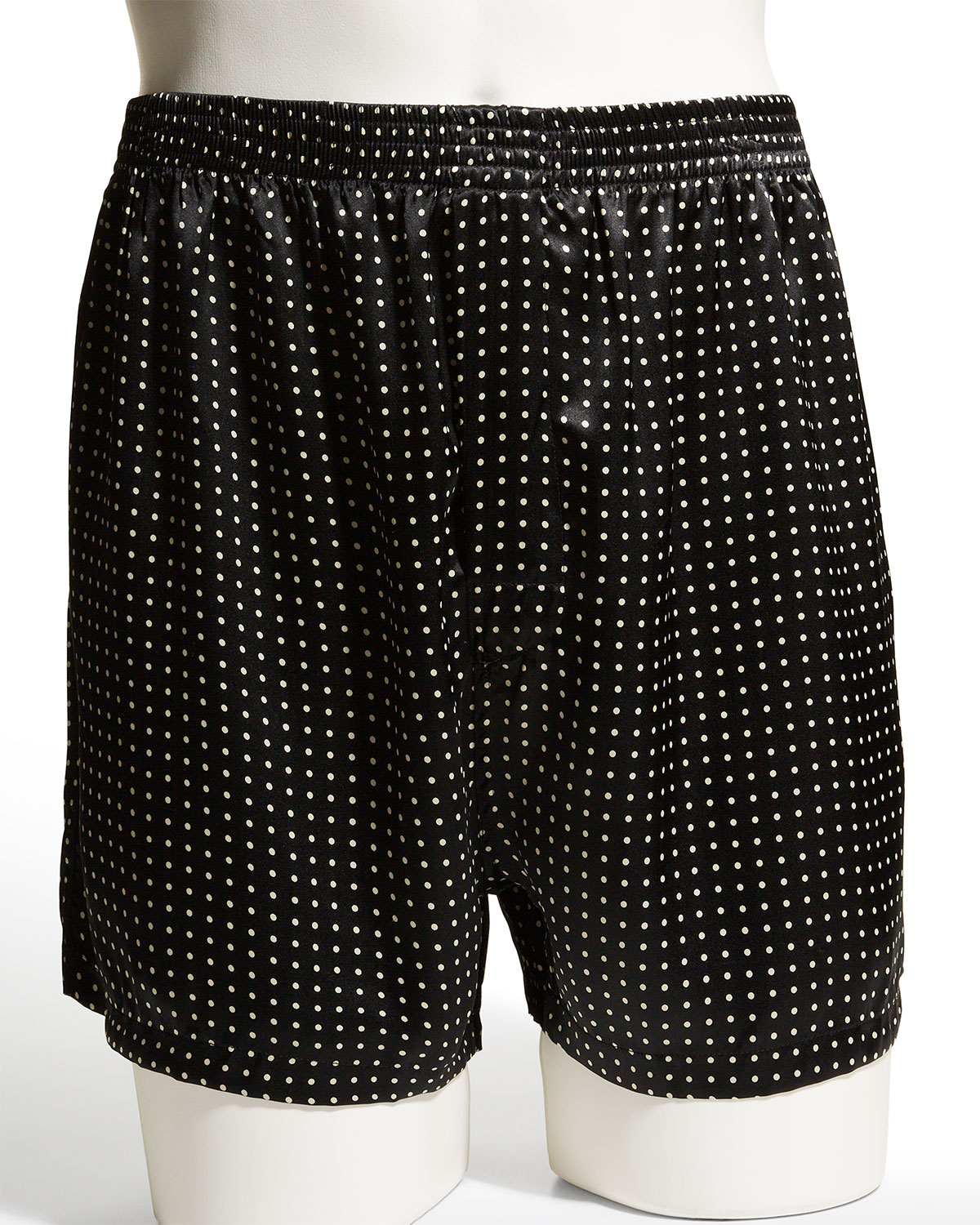 Men's Dotted Silk Boxer Shorts