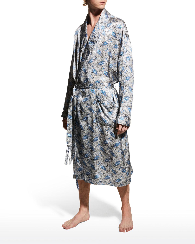 Men's Cypress Silk Shawl Robe
