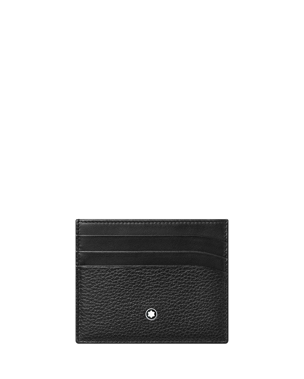 Montblanc Men's Meisterstuck Soft Grain Leather Card Holder In Black