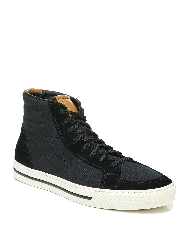 Men's Casey Suede/Canvas High-Top Sneakers