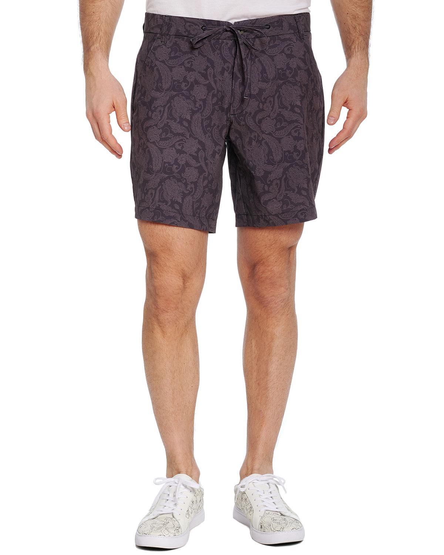 Men's Bounty Paisley-Print Shorts