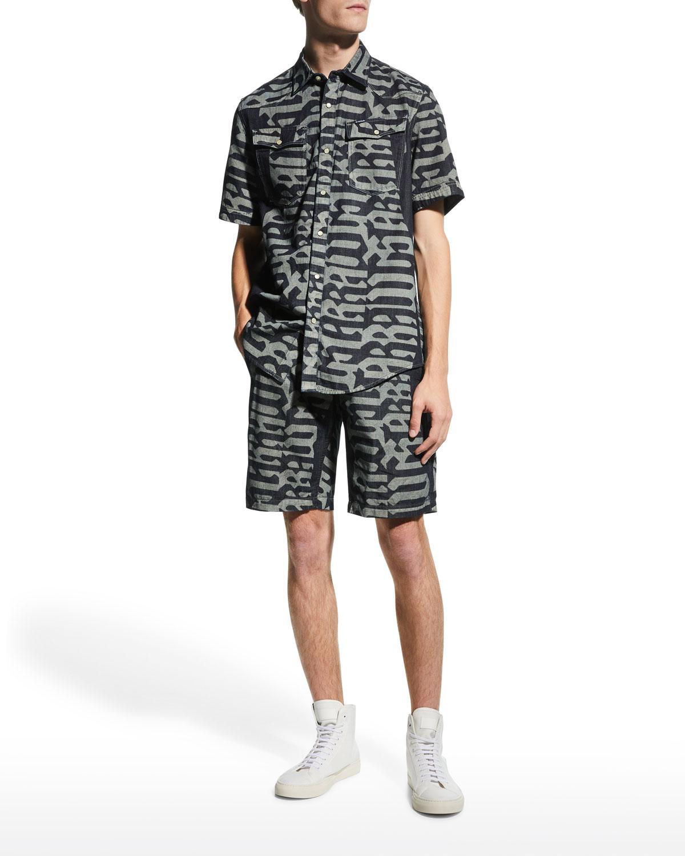 Men's 3301 Slim Printed Sport Shirt
