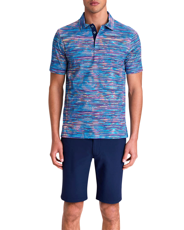 Men's Digital-Print Polo Shirt