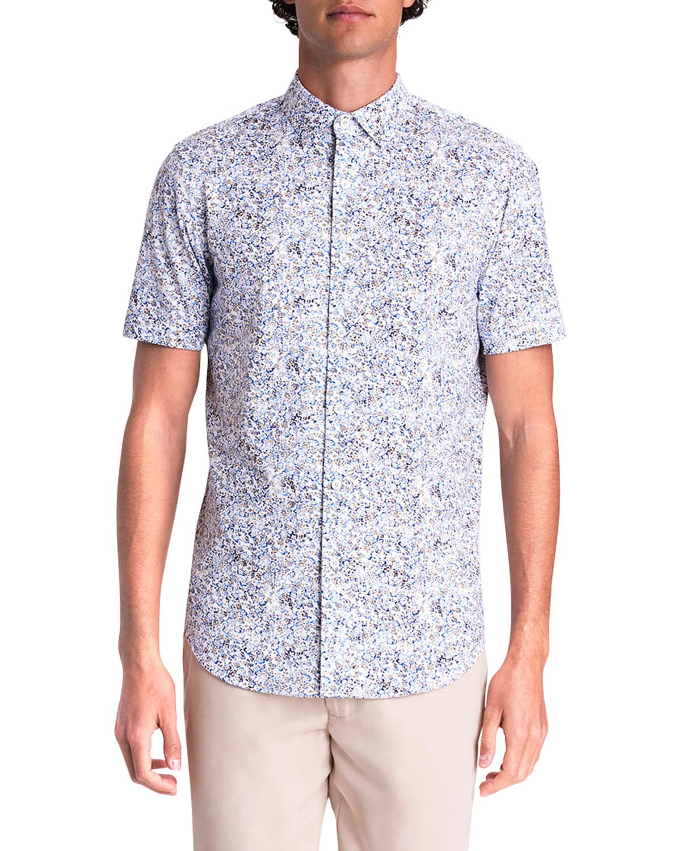 Men's Abstract-Print OoohCotton Tech Sport Shirt