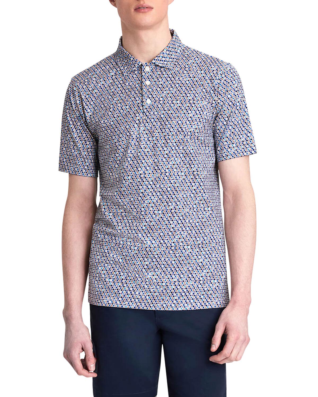 Men's Abstract-Print OoohCotton Tech Polo Shirt