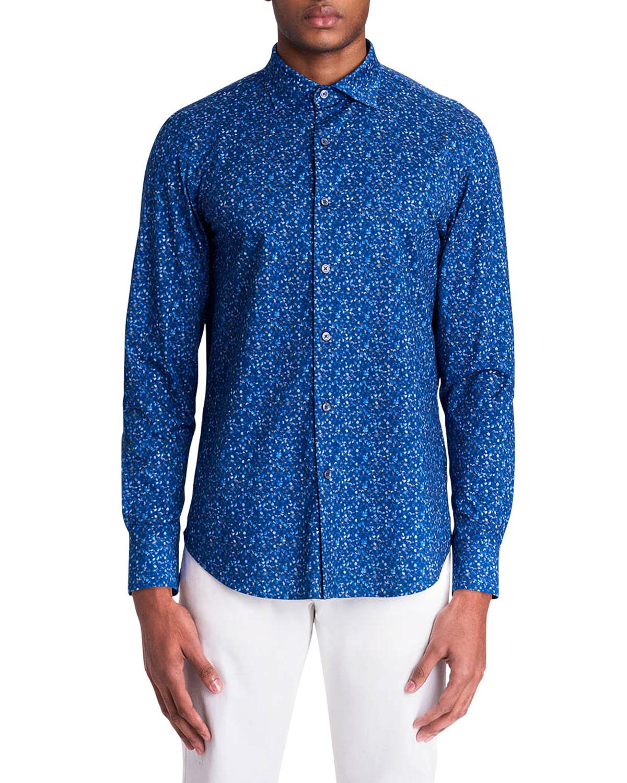 Men's Floral-Print OoohCotton Tech Sport Shirt