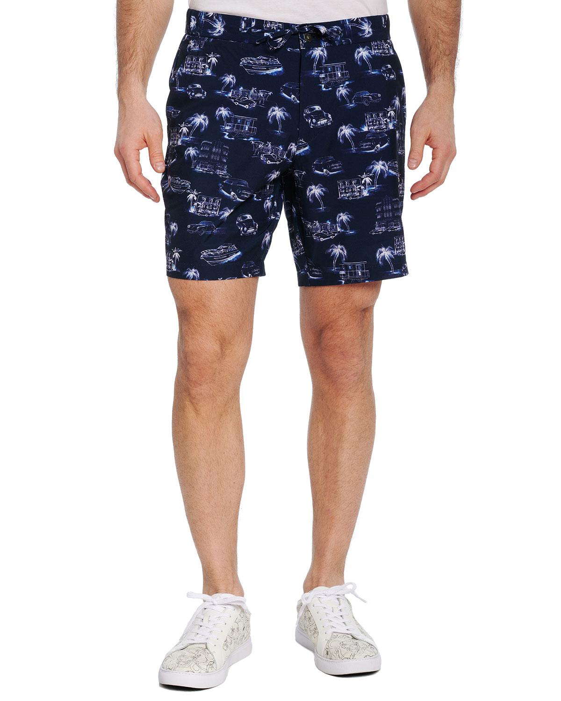 Men's Beach to Bar Car-Print Shorts