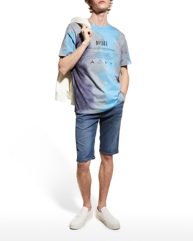 Men's D-Krooshort-Ne Slim Drawstring Denim Shorts