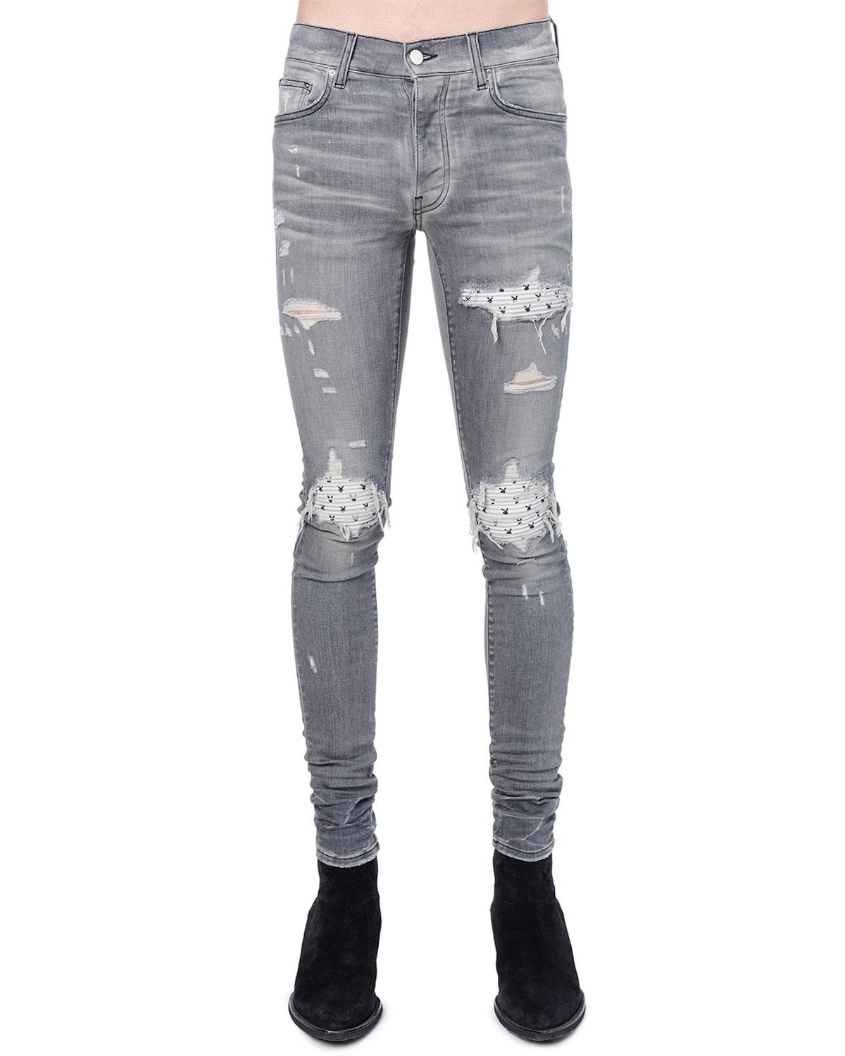 Men's MX1 Playboy Rip/Repair Skinny Jeans