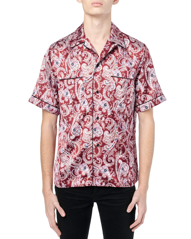 Men's Paisley Pajama Shirt