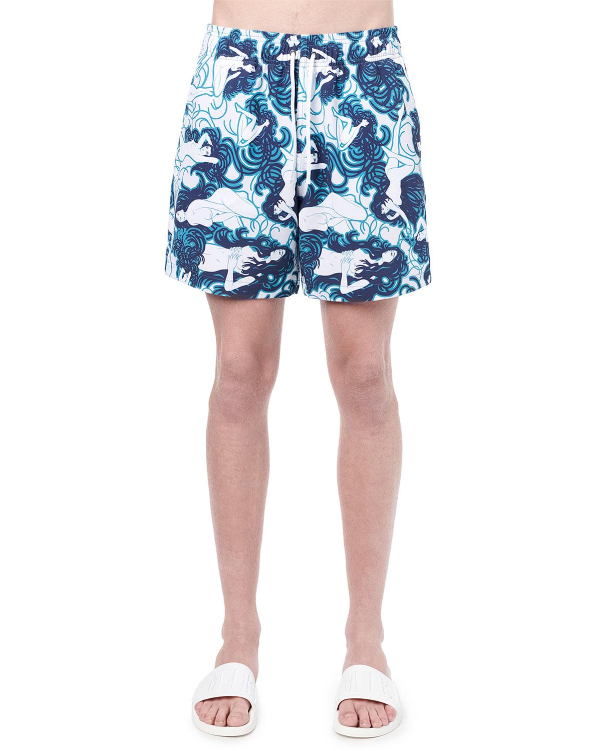 Men's Naked Girls Swim Trunks