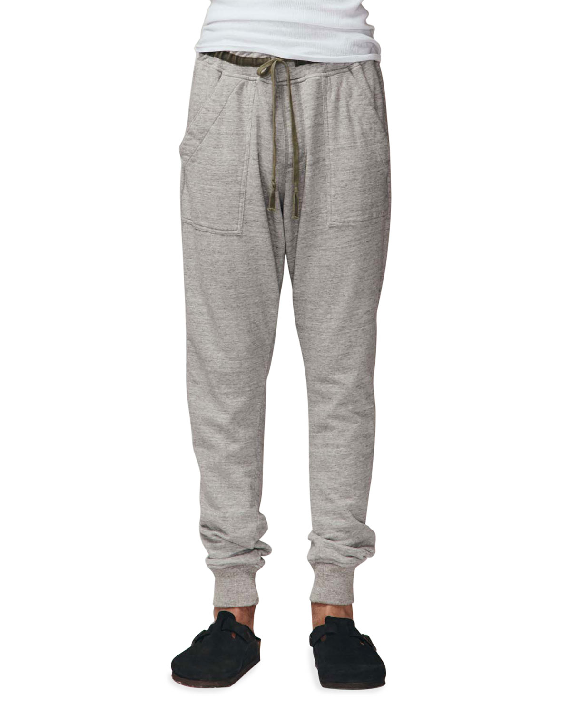 Men's Basic Heathered Patch-Pocket Sweatpants