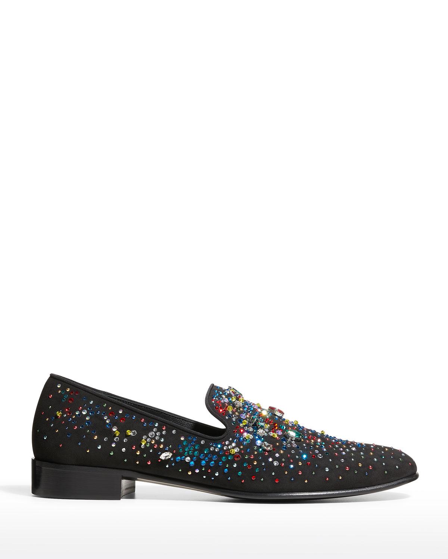 Men's Alicante Multicolor Embellished Suede Loafers