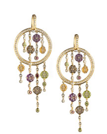 Di Modolo            Multistone Tempia Earrings  -   		Earrings - 	Neiman Marcus :  hoops earrings pierced multistone