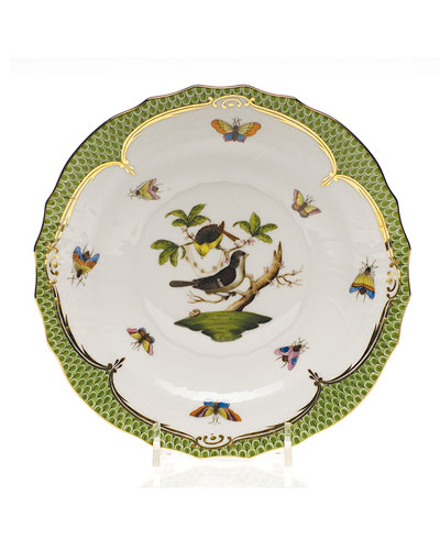 Rothschild Bird Green Border Salad Plate