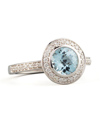 Frederic Sage Mini Aquamarine Diamond Ring