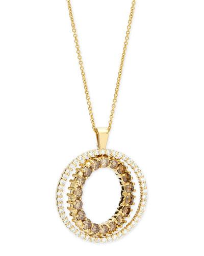 Double-Sided White & Cognac Diamond Pendant Necklace