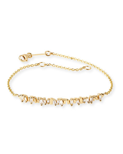 Baguette Diamond Bracelet in 18K Yellow Gold