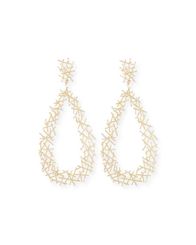 Baguette Diamond Stick Drop Earrings