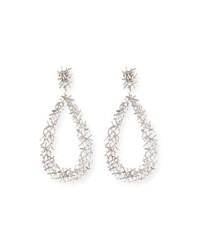 Baguette Diamond Stick Drop Earrings, 10.45 ct.