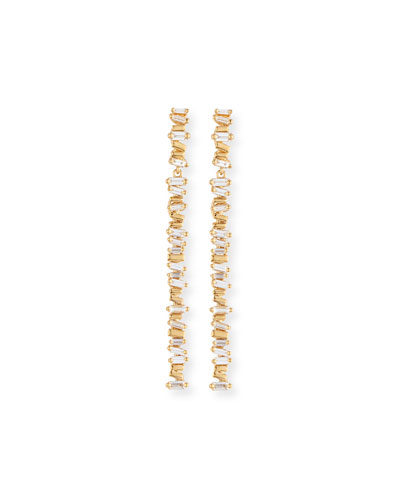 Fireworks Diamond Baguette Stick Earrings